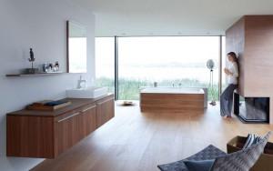 """Möbel im """"XL""""-Format sind lässig anzuschauen und bieten jede Menge Stauraum. Foto: Vereinigung Deutsche Sanitärwirtschaft (VDS) / Duravit"""