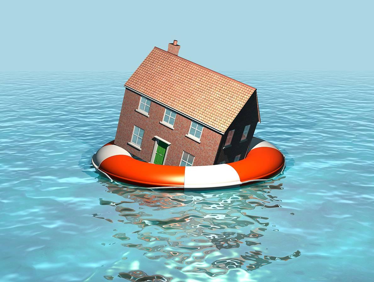 Haus im Hochwasser Foto: philhol - Fotolia