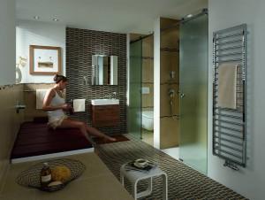 Ausgewählte Badewannen von Kaldewei lassen sich durch die Relaxliege im Handumdrehen in eine Entspannungsinsel verwandeln. Damit die Liege sich harmonisch in die individuelle Badgestaltung einfügt, ist sie in vier verschiedenen Farben erhältlich: Anthrazit, Beige, Karminrot und Schoko. Quelle: Franz Kaldewei GmbH & Co. KG