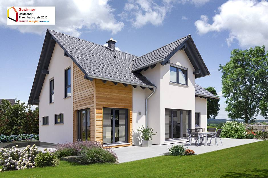 Mit einem fertighaushersteller zum traumhaus www for Einfamilienhaus satteldach