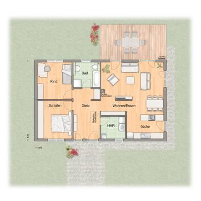town country bungalow 100 die familie f r ebenerdiges wohnen w chst. Black Bedroom Furniture Sets. Home Design Ideas