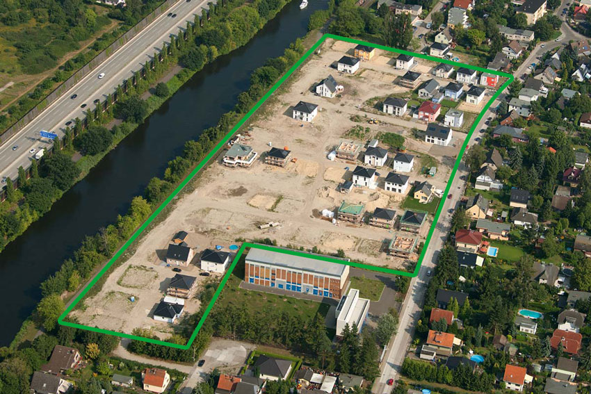 Baugebiet Berlin-Rudow, Silberdistelweg 16, 12357 Berlin, Tel.: 030 / 667 657 80 © HELMA Wohnungsbau GmbH