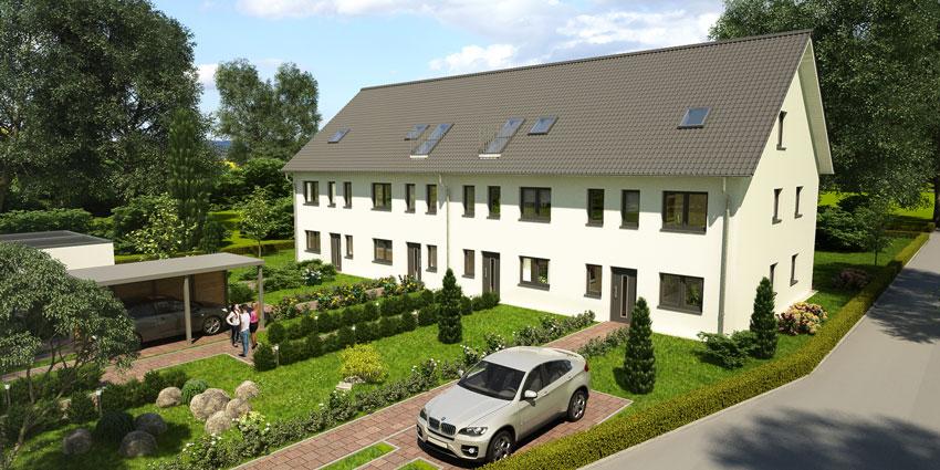 Eingang der Häuser im Baugebiet Tegel Bild: © HELMA Wohnungsbau GmbH