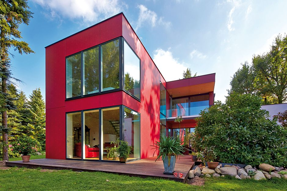 Individuelles fertighaus in vollendetem design www for Immobilien haus