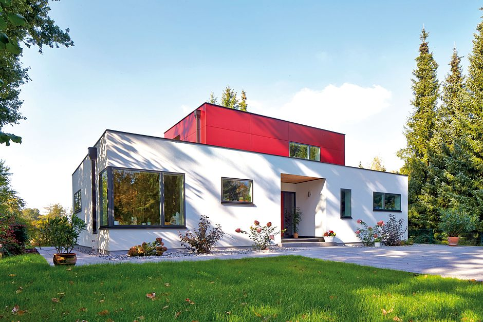 individuelles fertighaus in vollendetem design. Black Bedroom Furniture Sets. Home Design Ideas
