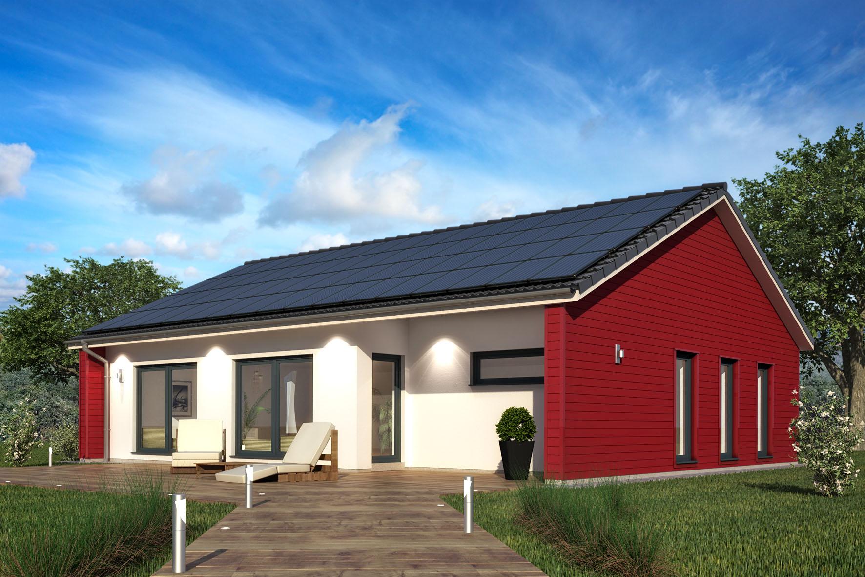 Erst bauen dann zahlen for Moderner bungalow mit satteldach