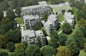 Wohnen im Park - Helma Wohnungsbau - Luftbild