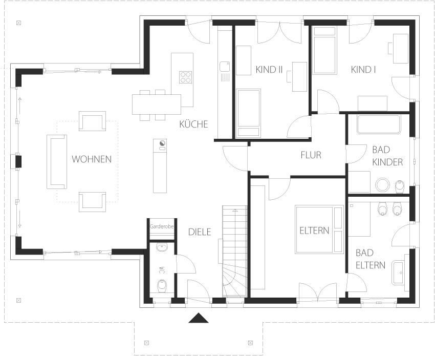 Musterhaus grundriss bungalow  Bungalows von Heinz von Heiden | www.immobilien-journal.de