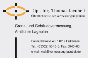 Vermesser Dipl.-Ing. Jacubeit