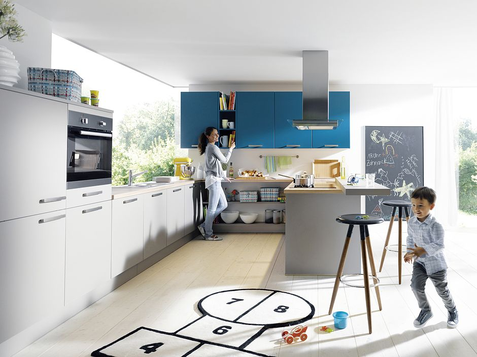 farbgestaltung in der k che drei farben sind genug. Black Bedroom Furniture Sets. Home Design Ideas