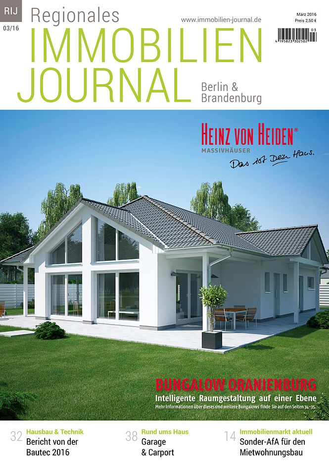 regionales immobilien journal berlin brandenburg m rz 2016. Black Bedroom Furniture Sets. Home Design Ideas