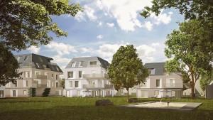 Bild 2: Gemeinschaftliche Freifläche mit Spielplatz Foto: Helma Wohnungsbau GmbH