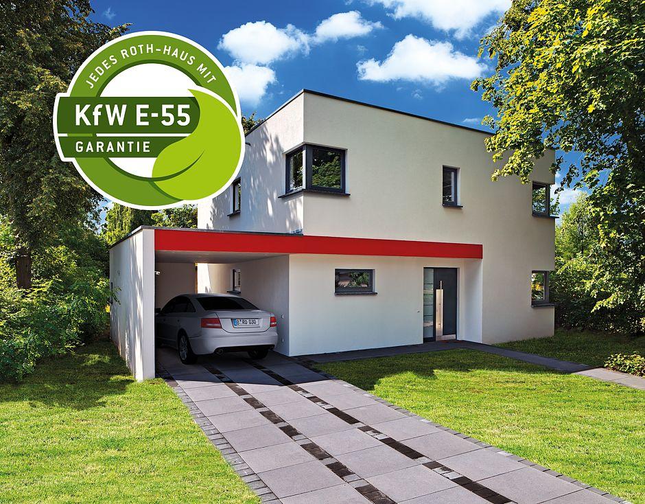 kfw effizienzhaus 55 ist bei roth massivhaus standard. Black Bedroom Furniture Sets. Home Design Ideas