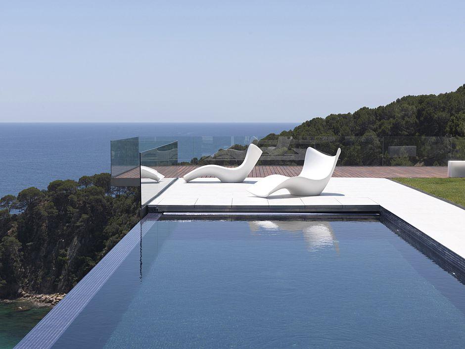 Gartenmobel Edelstahl Glas : Avantgardistisch modernes Design Liege SURF von VONDOM © Who´s