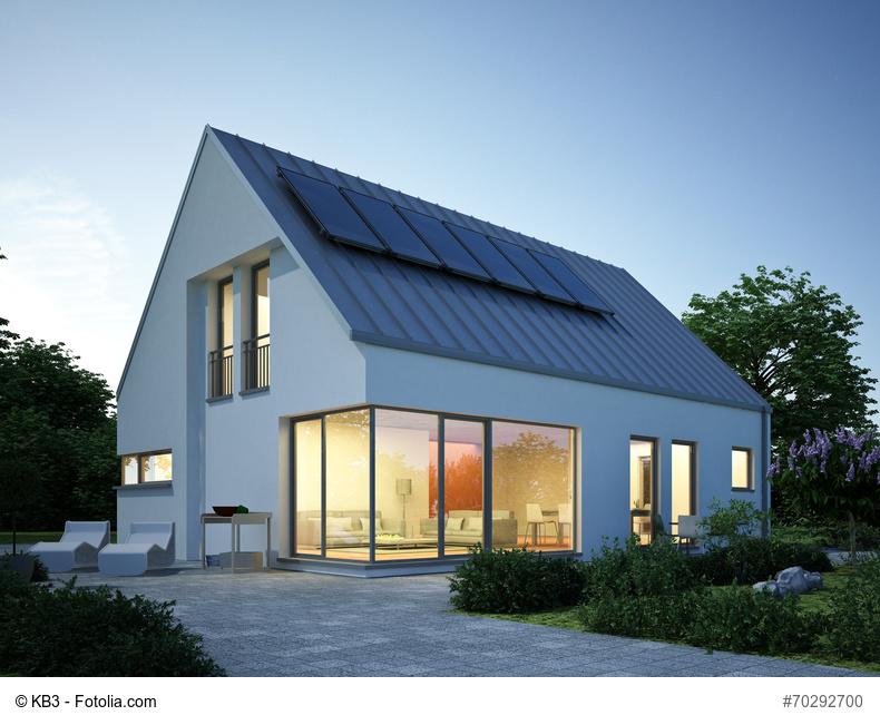 Ein Plusenergie-Fertighaus bietet ein modernes und energieeffizientes Zuhause Foto: © KB3 - Fotolia.com