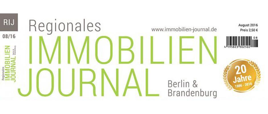 Regionales Immobilien Journal Berlin-Brandenburg August 2016