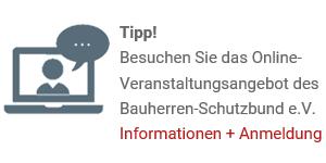 Online-Verantstaltungsangebot Bauherren-Schutzbund e.V.