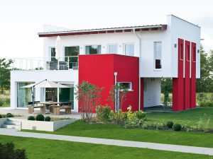 """ELK Haus 164 Trendline - """" Wir sehen rot"""" Foto: Unger Park"""