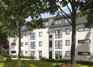 Großzügige Fensterflächen sorgen für lichtes, helles Wohnen. Foto: HELMA Wohnungsbau GmbH