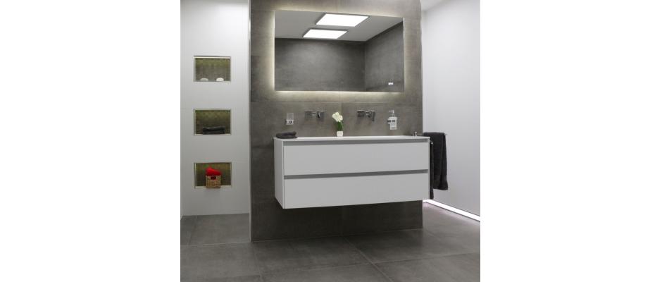 fliesen in betonoptik liegen weiterhin stark im trend. Black Bedroom Furniture Sets. Home Design Ideas