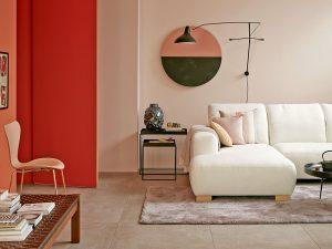 Gerade in Kombination mit starken Farben kommt die zarte Trendfarbe besonders stark zur Geltung. Foto: djd/Schöner Wohnen-Kollektion 2016