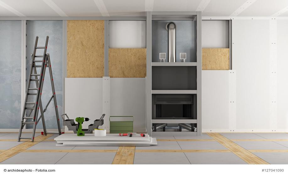 trockenbausysteme etabliert beim innenausbau. Black Bedroom Furniture Sets. Home Design Ideas