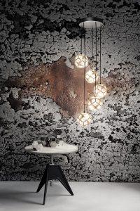 Tom Dixon; Etch Mini Chandelier Soft Silver © imm cologne