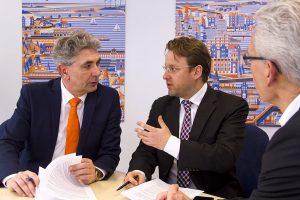 Rechtsanwalt Sebastian Retter und Ralf Kunert im Gespräch zum Thema Vorsorgevollmacht
