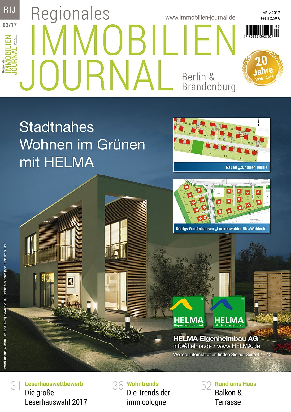 Regionales immobilien journal berlin brandenburg m rz for Hausbaufirmen brandenburg