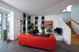 Wohnbereich im Musterhaus Köpenick © Heinz von Heiden Massivhäuser GmbH