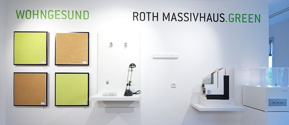 In den Berliner Kundenzentren werden die ROTH-MASSIVHAUS.GREEN-Produkte ausgestellt. Foto: Roth-Massivhaus