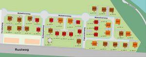 35 Grundstücke zur individuellen Bebauung stehen im ersten Bauabschnitt der Havelmarina Berlin zum Verkauf. Grafik: HELMA Wohnungsbau GmbH
