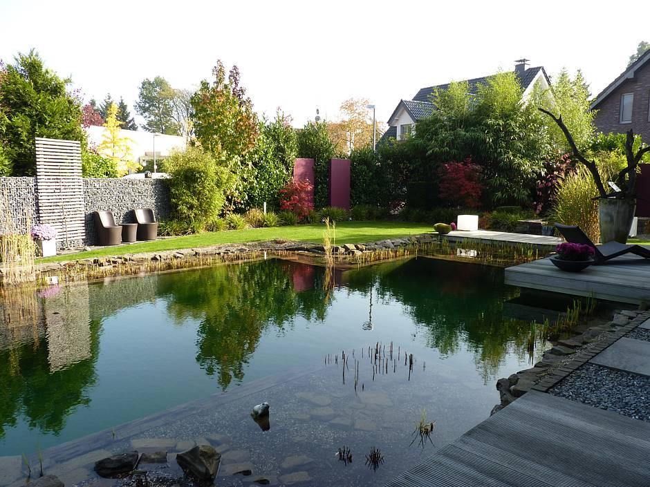 Ist der Garten groß genug, ist ein Pool oder Schwimmteich für Wasserratten perfekt. Dort können sie sich auspowern und an heißen Tagen erfrischen.
