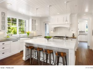 Kochinsel im gemütlichen Einfamilienhaus
