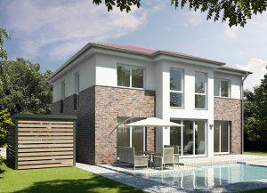 Großzügiges, helles und lichtes Wohnen erwartet Bauherren, die sich für eine Stadtvilla entscheiden – wie den Entwurf Verona. Foto: HELMA Wohnungsbau GmbH