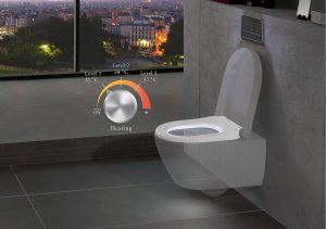 Neben sensorgesteuerten Bewegungsmeldern an Wänden, am Boden oder wie hier am WC, sorgen auch energieeffiziente LED-Lichter in Form von Orientierungsleuchten an Spiegeln und Spiegelschränken für einen sicheren Weg durch die Nacht ins und im Badezimmer. Foto: Villeroy & Boch / ViSeat