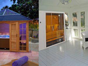 Die private Wellness-Oase mitten im Garten: Ein Pavillon lässt sich mit einem Whirlpool oder einer Sauna individuell aufwerten. Fotos: djd/Riwo Gartenpavillons