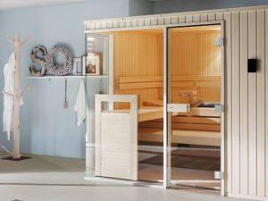 Hier geht's heiß her: Für die individuelle Sauna findet sich überall ein Platz Quelle: www.helo-sauna.de/BHW Bausparkasse