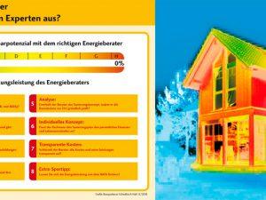 Auf diese Punkte sollten Sie bei der Wahl des richtigen Energieberaters achten Foto rechts: Die gelben und roten Farbfelder in der Thermografie-Aufnahme verdeutlichen, dass jede Menge Energie verloren geht. © Bausparkasse Schwäbisch Hall)