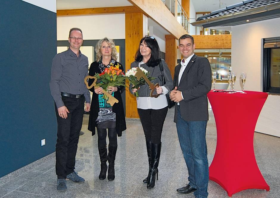 Alexander Temler, Ina Martin, Elke Behrends-Wendler und André Löscher bei der Eröffnung © MH/RIV GmbH