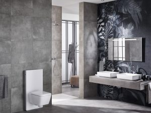 Mit Aufsatzwaschtischen lassen sich individuelle Waschplätze gestalten, die den Look der klassischen Waschschüssel hochmodern und komfortabel interpretieren. Foto: djd/Geberit