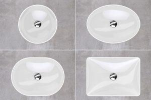 Becken in den wichtigsten Formen Kreis und Rechteck, Ellipse und Oval bieten vielfältige und höchst individuelle Möglichkeiten, Waschplatzkonzepte zu verwirklichen. Foto: djd/Geberit