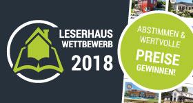 Leserhauswettbewerb 2018 - Die große Wahl zum Haus des Jahres