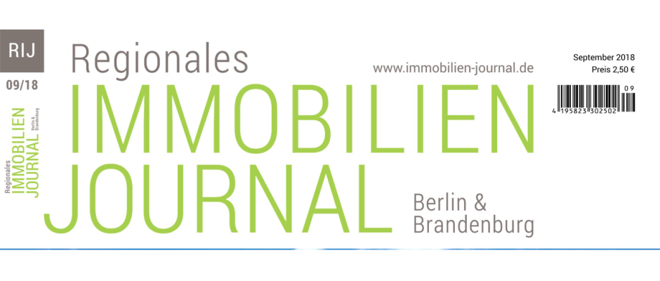 Regionales Immobilien Journal Berlin & Brandenburg September 2018