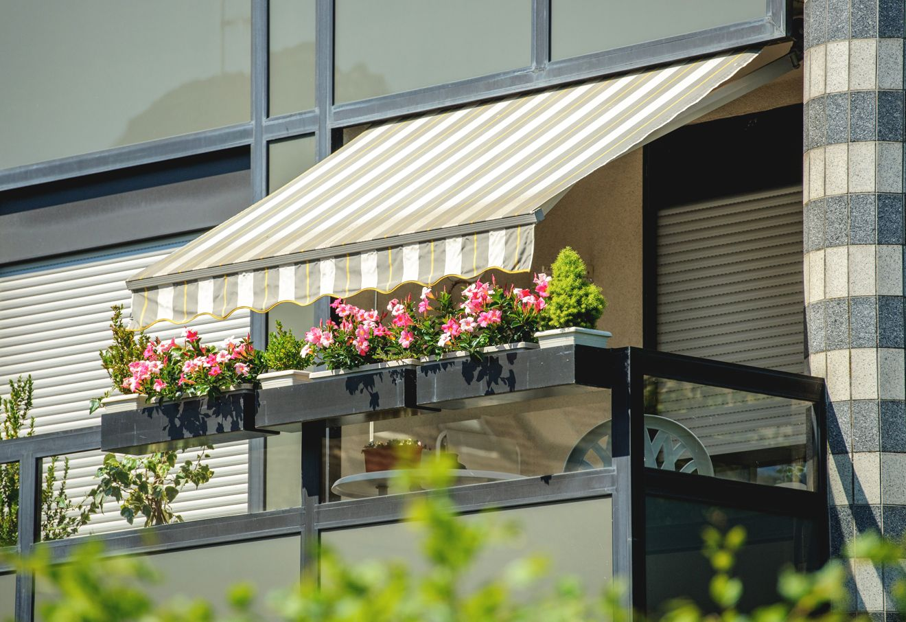Sichtschutz für Balkon mit Markise