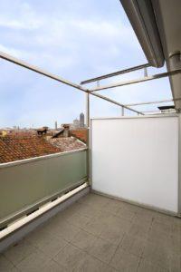 Sichtschutz für Balkon mit Trennwand