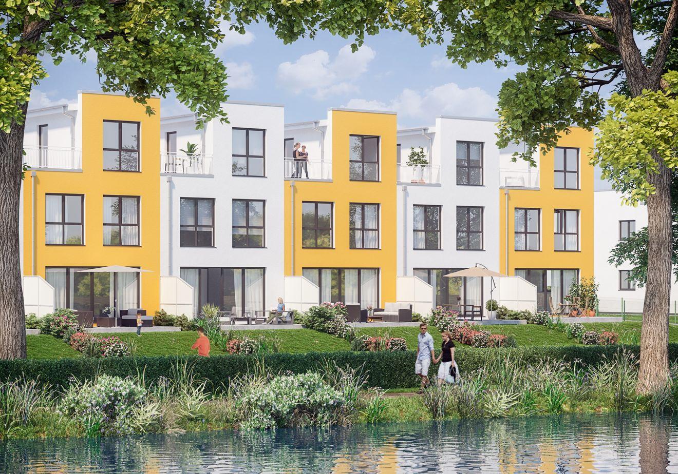 First Home baut exklusive Townhouses mit Wasserblick Foto: First Home Wohnbau GmbH