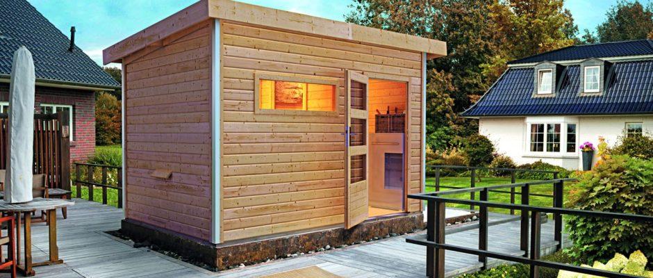 Attraktion im Garten: Saunahäuser sind ein Traum für jeden Saunagänger. ©Karibu