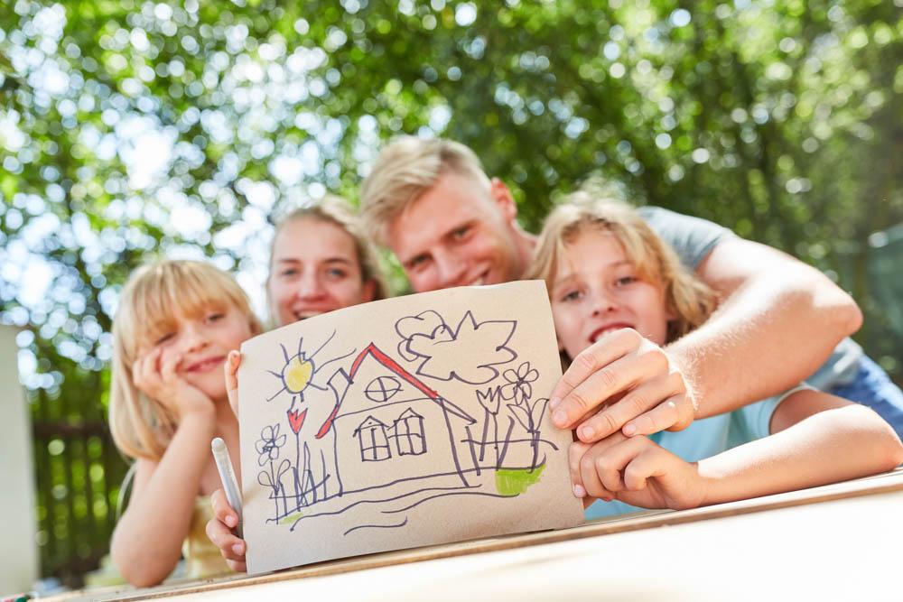 Viele Familien träumen vom Eigenheim