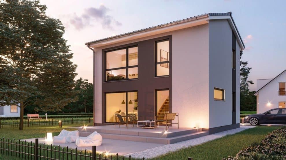 Gartenseite Haus Fehmarn Bilder/Grafiken: Roth-Massivhaus